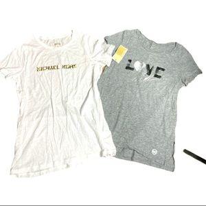 TWO Michael Kors short sleeve T-shirts NWT